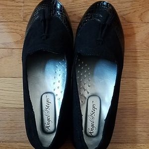 87f9229fd47d Angel Steps Womens 10W Black Flats No Lace Shoes fashion clothing